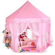 KIDUKU-Tente-de-jeu-pour-enfants-Chteau-de-Princesse-Tente-de-jeu-Maison-de-Jouet-Chteau-de-Princesse-de-fes-3-couleurs-au-choix-Rose-0-0