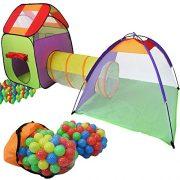 KIDUKU-tente-de-jeu-igloo-avec-tunnel-maison-de-jeu-200-balles-tui-de-transport-0