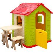 Maison-de-Jeu-en-Plastique-Maison-de-Jardin-pour-Enfants-Maisonnette-1-Table-2-Tabouret-pour-intrieur-et-extrieur-0-0