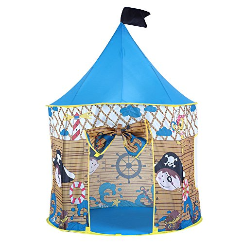 Pericross-Pop-Up-Teepee-Tentes-Pirate-pour-les-Enfant-Bleu-0