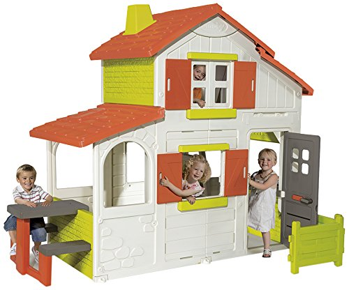 Smoby-320023-Maison-De-Jardin-Duplex-0