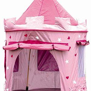 Cabane-enfant-maison-pour-fille-CHATEAU-DE-PRINCESSE-jardin-ou-intrieur-Tente-de-Jeu-jouet-Pop-Up-rose-0