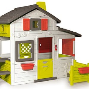 Smoby-310209-Jeu-de-Plein-Air-Maison-de-Jardin-Friends-House-Sonnette-Electronique-Incluse-0
