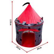 deAO-Tente-Autoarmable-Tente-Pop-Up-Avec-Design-Amusant-Chteau-Rouge-0-0