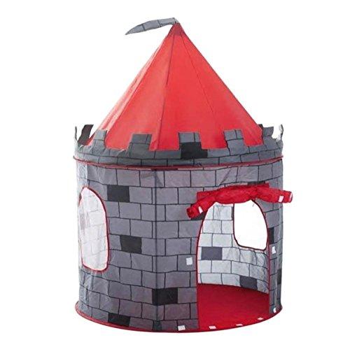 deAO-Tente-Autoarmable-Tente-Pop-Up-Avec-Design-Amusant-Chteau-Rouge-0