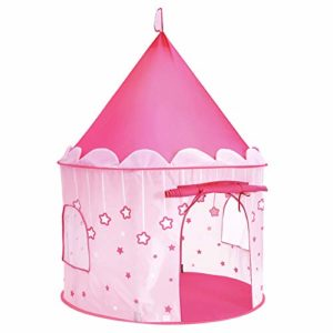 SONGMICS-Tente-de-Jeu-Chateau-de-Princesse-pour-Fille-Maison-de-Jeu-Intrieure-et-Extrieur-Portatif-avec-toiles-Brillantes-Cadeau-pour-Enfants-Rose-LPT01PK-0