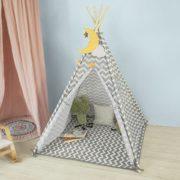 SoBuy-OSS03-Tipi-Enfant-Tente-pour-Enfant-avec-Tapis-De-Sol-Indian-Teepee-Tente-de-Jeu-pour-Enfants-0-0