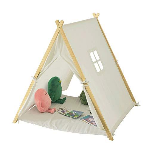 SoBuy-OSS02-Tente-Tipi-Enfant-pour-Garon-et-Fille-Teepee-Tente-de-Jeu-pour-Enfants-avec-Tapis-de-Sol-et-Fentres-0