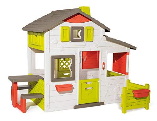 Smoby-Maison-Neo-Friends-House-Cabane-de-Jardin-Enfant-Personnalisable-avec-Accessoires-Smoby-Sonnette-Incluse-810203-0